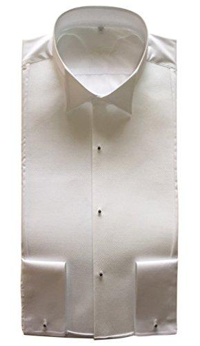 Frackhemd Botthof, Slimline, piqué, 100% Baumwolle, extra langer Arm Weiß