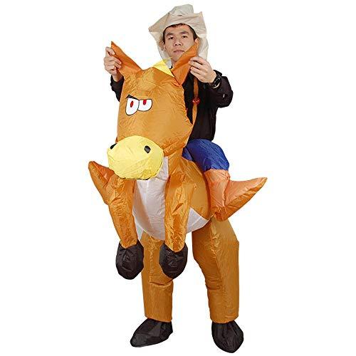 MIMI KING Aufblasbares Reitpferd Keucht Kostüm, Aufblasbare Kostüme Für Erwachsene Halloween Sprengen Kleid