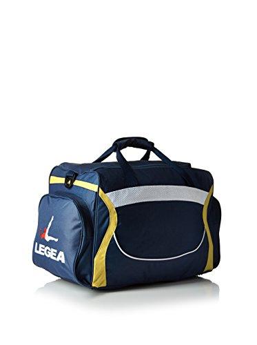 Legea Herren Modena Sporttasche Schultergurt Umhängetasche Fußball Gym 60x30x35 cm (BLAU-GELB) BLAU-GELB