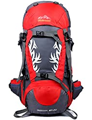 Mochila 50L Bolso de alpinismo Bolsa de hombro Bolso de viaje Hombre y mujer Bolsa de viaje Bolsa de deporte ( Color : 1# )