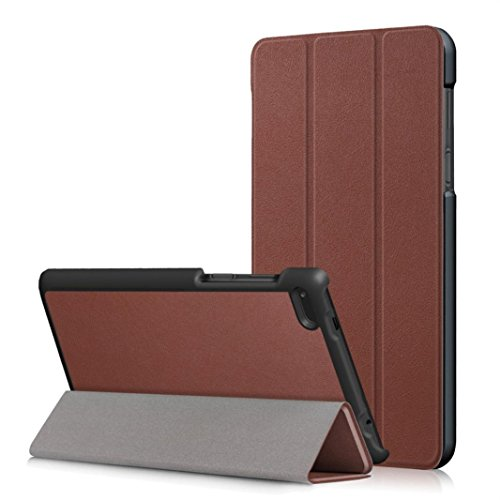 MuSheng(TM) Leather Slim Folding Stand Painted Case Cover For Lenovo Tab 7 Essential TB-7304F/I/X (Brown)
