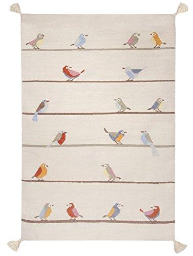 Art For Kids 110 x 160 cm 100 por ciento a mano de alta calidad mano y son muy duraderas de lana alfombra, Multi-color