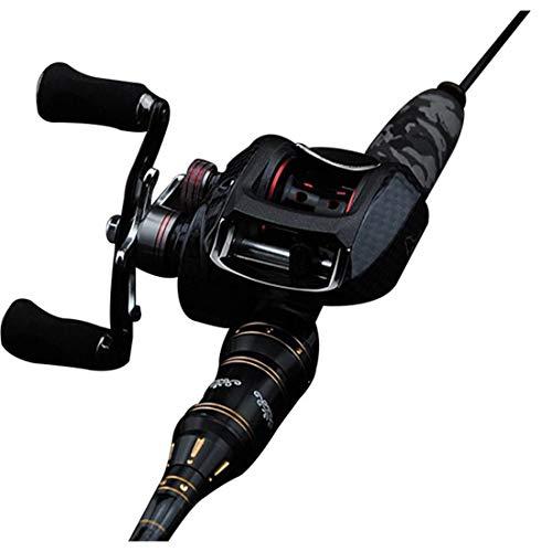 Fepelasi attrezzatura da pesca set con mulinello da spinning combos linea esche da pesca ganci borsa da viaggio per la pesca in mare, starter set completo completo (2.1m / 2.4m)