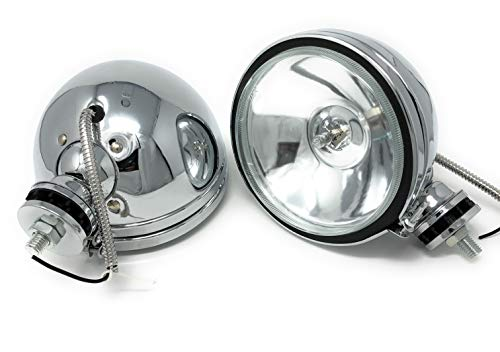 2 x H3 160mm Offroad Zusatz Scheinwerfer Chrom Licht Lampe Fernlicht