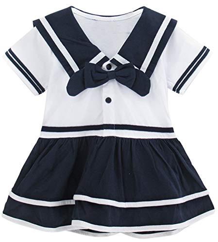 Mombebe Baby Mädchen Matrose Body Sommer Kurz Kleider (Matrose, 6-12 - Seemann Mädchen Kostüm
