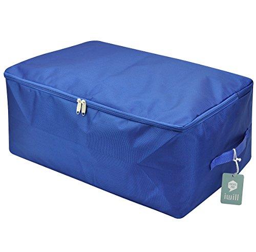 Grandi, impermeabile, di spessore tessuto di Oxford, Consolatore sacchetto di immagazzinaggio, pieghevole di design, maniglie resistenti, speciale per la stagione Articoli bagagli (blu zaffiro, L)