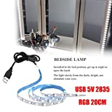 TAOtTAO USB 5V 2835 12SMD 20CM RGB LED Strip Light Bar TV Back Lighting Kit