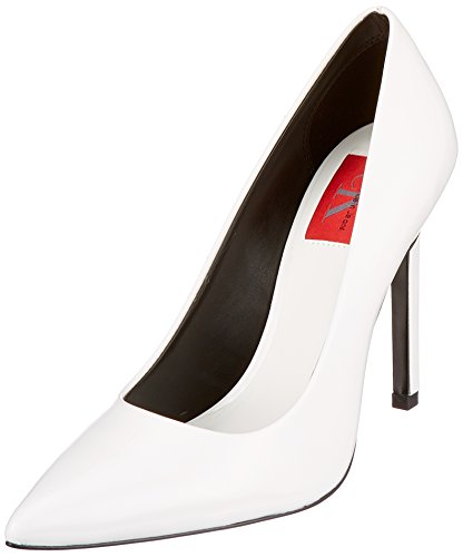 Calvin Klein Jeans Paige Patent Zapatos de Tacn Mujer, Blanco (Wht 000), 41 EU