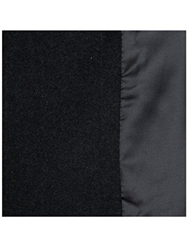 HRYfashion - Manteau - Caban - Uni Homme Noir - Charbon