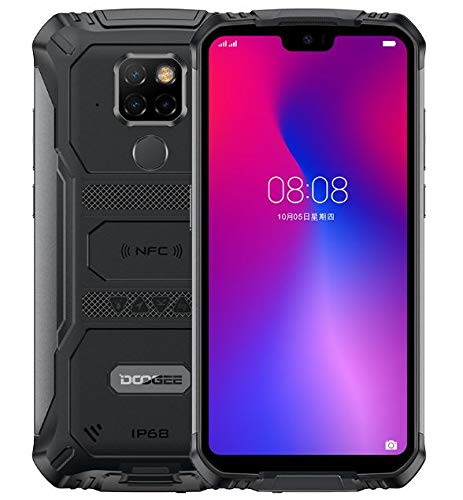 DOOGEE S68 Pro Rugged Smartphone, Helio P70 Octa Core 6GB 128GB, Cellulare Impermeabile Antiurto IP68, Batteria 6300mAh (Ricarica Wireless), 21MP+16MP, 5,9'' FHD + Gorilla Glass 4, NFC GPS,Nero