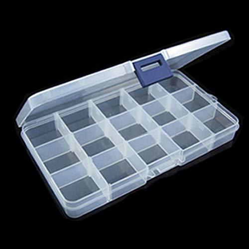 HATCHMATIC Hohe Qualität 15 Slots Adjustable Fischköder-Gerät-Kasten-Speicher-Fall-Organisator Pesca Fisch Tool Box -