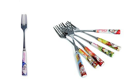 Egan Disney Tenedor Set 7Piezas con todos los enanitos pws77/09x