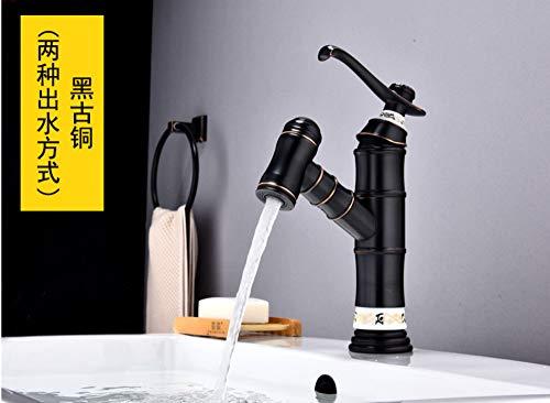 Makeyong Basin Faucets Waterfall Bathroom Faucet Single Handle Basin Mixer Tap Bath Antique Faucet Brass Sink Water Crane - Brass Crane