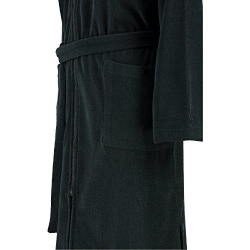Möve Leichter Kapuzenmantel Serie Homewear Größe XS, weiß Schwarz