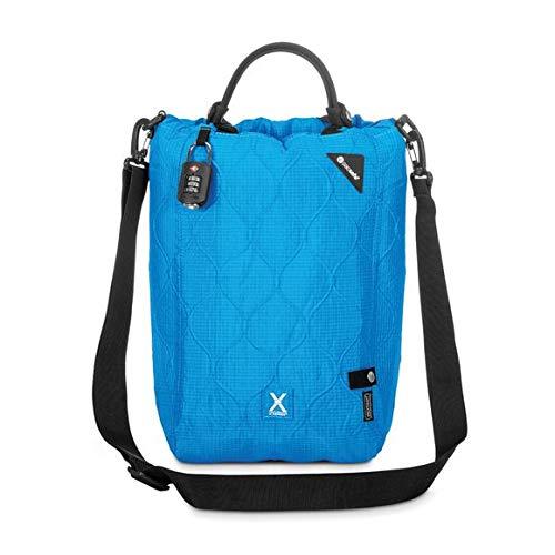 Pacsafe Travelsafe - Mobiler Safe, mit TSA-Zahlen Schloß, Henkeltasche mit Anti-Diebstahl Technologie (Türkis (Hawaiian Blue 616), 15 Lit...