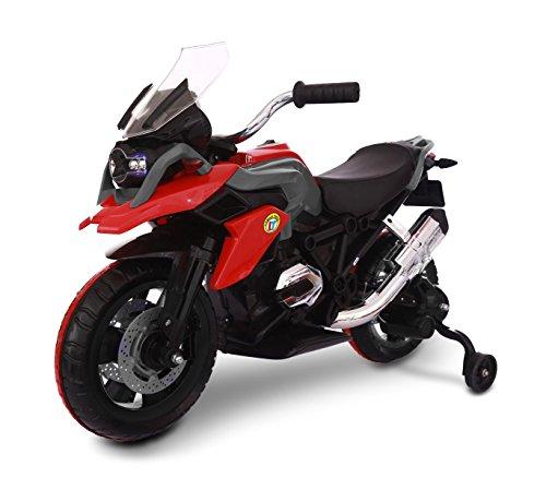 Moto da corsa LT873 per bambini Flower elettrica ROSSA 12V con luci led sulle ruote. MEDIA WAVE store ®