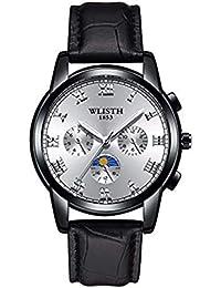 Hermosos Relojes mecanicos Relojes Hombres Reloj de Cuarzo Reloj de Hombre de Acero Reloj de Correa