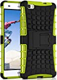 ONEFLOW® Outdoor Back-Cover aus Silikon + Kunststoff [Double-Layer] passend für Huawei P8 Lite 2015 | Extrem widerstandsfähig