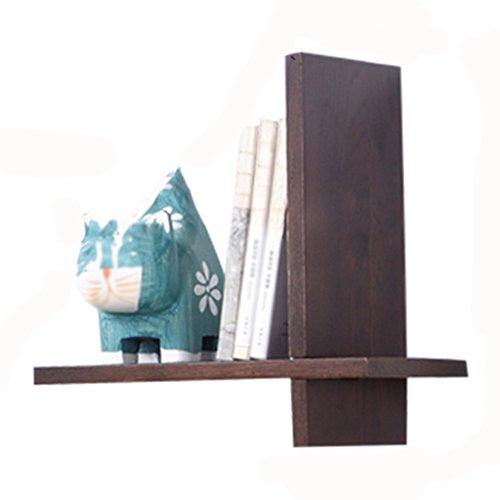WSSF- Étagères murales en bois de chêne européen Chambre simple Partition étagère salon intérieur TV fond Unité de stockage Display Stand Couleur en option, 30 * 15 * 30cm (Couleur : Walnut color)