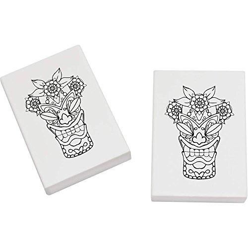 Azeeda 2 x 45mm 'Tiki Kopf' Radiergummis (ER00012931)