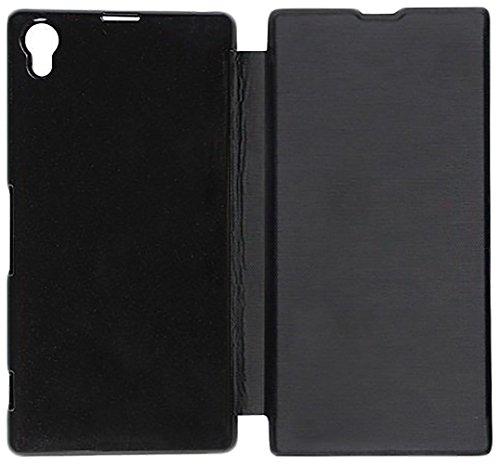 2dots Flip Back Cover Case for Sony Xperia Z1 (Black)  available at amazon for Rs.99