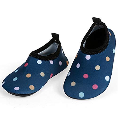 L-RUNJP Kinder Schwimmen Soack Kleinkind Wasserdichte Wasser Schuhe Atmungsaktiv Welle Blau 18-24 Monat = EU21-22