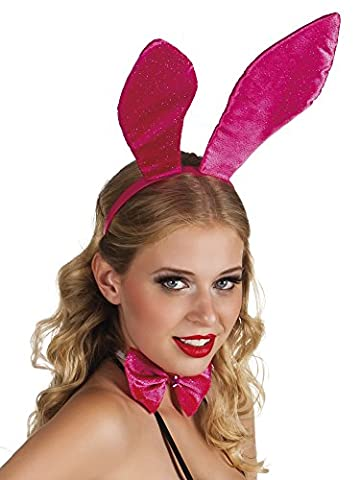 Confettery - Hasen Ohren Hut Haarreif Bunny, Pink