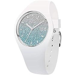 Ice-Watch - Ice lo White Blue - Montre Blanche pour Femme avec Bracelet en Silicone - 013429 (Medium)
