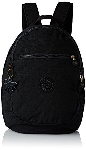 KiplingClas Challenger Bp - Zaino Donna , Nero (Noir (Black Leaf)), Taille Unique