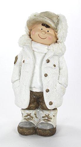 Deko Figur Winter-Kind Junge Stehend