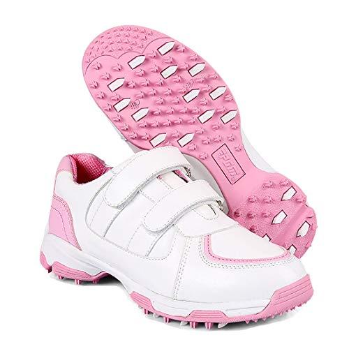 KERVINZHANG Chaussures de Golf Enfants Pointes imperméables Moins Chaussures Antidérapantes...
