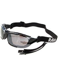 RAVS lunettes DE Moto - moto lunettes ENCOCHE BI GROOVE LUNETTES DE SOLEIL inclus BANDE, ARMATURE; et SOFTBAG