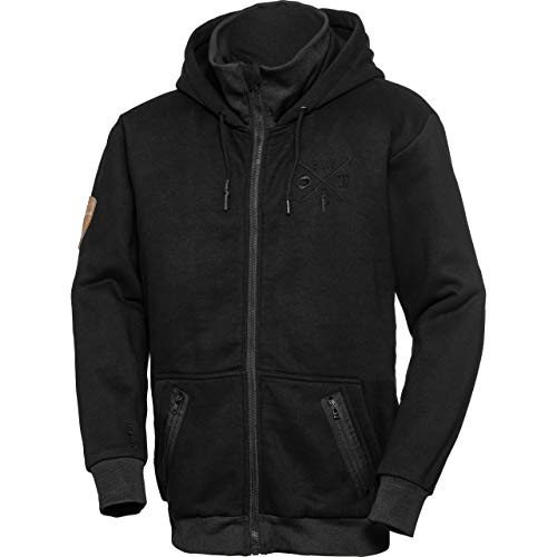 Spirit Motors Sweatjacke, Sweatshirtjacke, Hoodie, Kapuzenjacke Hoodie mit Protektoren 1.0 schwarz XXL, Herren, Chopper/Cruiser, Ganzjährig, Textil