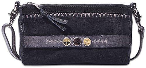 NOOSA ORIGINAL Handtasche CITYBAG embroidery black - ohne Chunks (Leder Knochen Sandale)