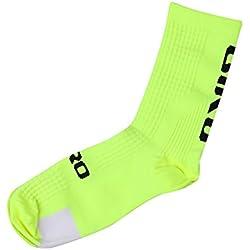 Youge Pack de 2 Calcetines de Atletismo al Aire Libre, Calcetines Deportivos para Correr, Ciclismo, Ciclismo, Escalada, esquí, Senderismo y Senderismo para el Hombre (Amarillo)