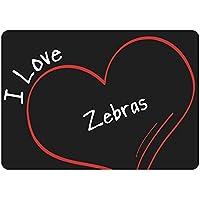 tappetino per mouse Modern I Love Zebre nero