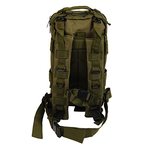 Molie 22cmx24cmx43cm Sport Outdoor Military Rucksacks Tactical Backpack Camping Hiking Trekking Bag Armygreen