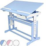 Infantastic Kinderschreibtisch Kindertisch Kindermöbel Kinderzimmer Schreibtisch Schnülerschreibtisch Bürotisch höhenverstellbar 62-88 cm Farbewahl - Rosa