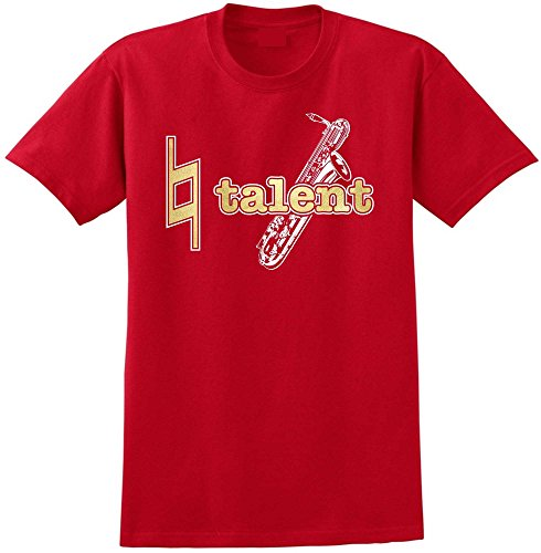 Saxophone Sax Baritone Natural Talent - Red Rot T Shirt Größe 87cm 36in Small MusicaliTee
