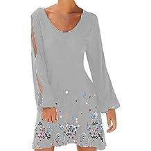 Amazon.es: vestido boho - Gris