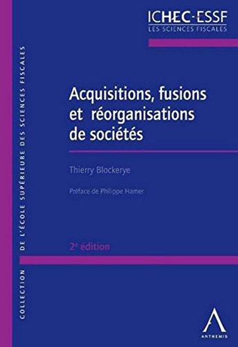Acquisitions, fusions et réorganisations de sociétés - 2016