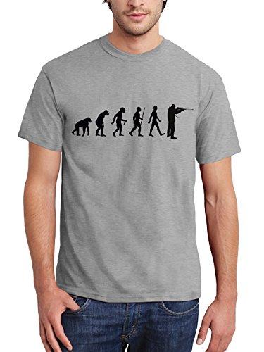 clothinx Herren T-Shirt Jäger Evolution Sports Grey