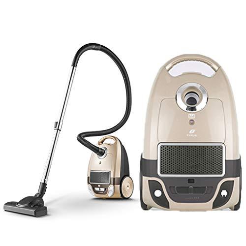 A Vacuum cleaner Mehrfach eingesackter Kanister-Staubsauger mit erweiterter Reichweite, Weißer Hochleistungs-Staubsauger mit hoher Leistung von 360 ° mit 360 ° -Walze (Farbe : Gold)
