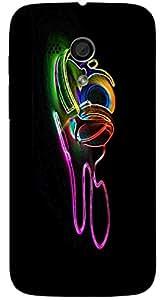 Marvelous 3D multicolor printed protective REBEL mobile back cover for MotoG(1st Gen ) - D.No-DEZ-2122-motog1