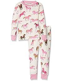 Hatley Lbh Girl's Pj Set - Heart & Horses (Aop) - Ensemble De Pyjama - Fille