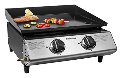 FireFriend BQ-6372 49.30 x 49.50 x 26.30 cm 2-Burners Gas Baking Plate - Black