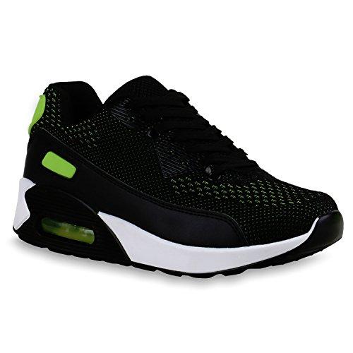Laufschuhe Damen Trendfarben Schwarz Runners Neongrün Sportschuhe Sneakers ZqfEFOzpq