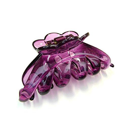 rougecaramel - Accessoires cheveux - Pince crabe simple - violet