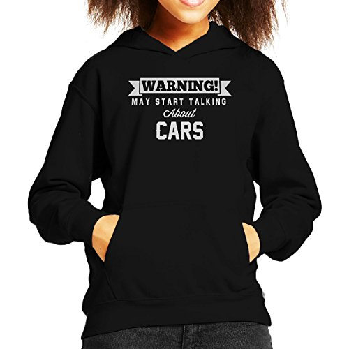 Coto7 Warning May Start Talking About Cars Kid's Hooded Sweatshirt (Range Sweatshirt Rover)