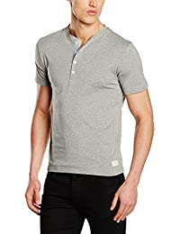 Selected Shhniklas Ss Split Neck Noos, T-Shirt Homme